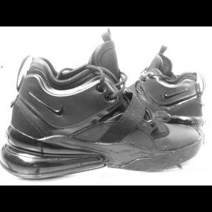 Triple black Nike Air Force 270's Size 11 men's